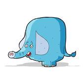 Cartoon funny elephant — Stock Vector