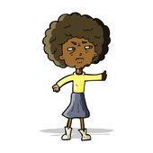 Cartoon annoyed old woman — Stock Vector