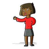 Cartoon woman explaining — Stock Vector