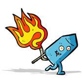 Cartoon funny firework character — Stockvektor