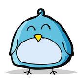Rolig tecknad fågel — Stockvektor