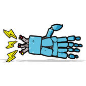 Cartoon robot hand — Stock Vector