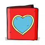 Cartoon love heart card — Stock Vector #50129187