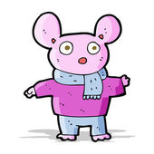 Cartoon mouse in clothes — Stockvektor