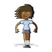 漫画幸せな女 — ストックベクタ