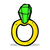 Cartoon ruby ring — Stockvektor