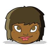 Cartoon female face — Stock Vector