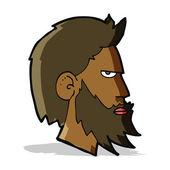 Uomo di cartone animato con barba — Vettoriale Stock