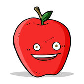 Radosne jabłuszko kreskówka — Wektor stockowy