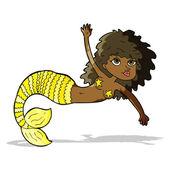 Cartoon pretty mermaid — Stock Vector