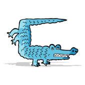 Cartoon-krokodil — Stockvektor