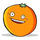 Happy cartoon orange — Stock Vector