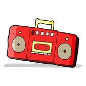 Kreslený rádio kazetový přehrávač — Stock vektor