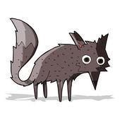 Funny cartoon little wolf — 图库矢量图片