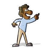 Kreskówka mężczyzna wskazując i śmiejąc się — Wektor stockowy