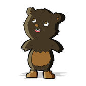 Cartoon black bear — Stock Vector