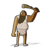 Cartoon neanderthal — Stock Vector