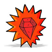 Cartoon huge ruby — Stockvector