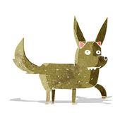 Tecknade vilda hund — Stockvektor