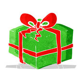 Cartoon christmas present — Stock Vector