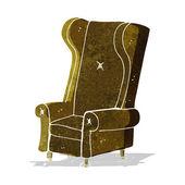 Çizgi film eski sandalye — Stok Vektör