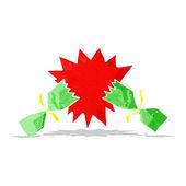 Dibujos animados navidad cracker — Vector de stock