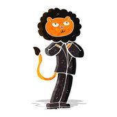 Cartoon leeuw zakenman — Stockvector
