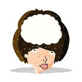 Cartoon empty headed woman — Stock Vector
