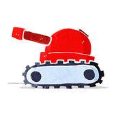 Tanque de dibujos animados — Vector de stock