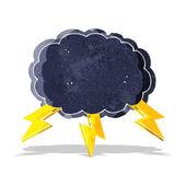 Cartoon cloud en lightning bolt symbool — Stockvector