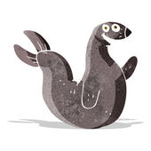 Cartoon happy seal — Stock Vector