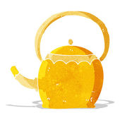 お茶のポットを漫画 — ストックベクタ