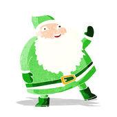 Funny waving santa claus cartoon — Vector de stock