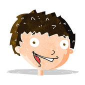 Cartoon laughing boy — Stock Vector