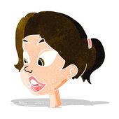 Cartoon friendly woman — Vector de stock
