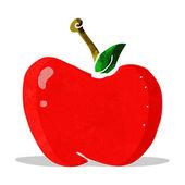 мультфильм яблоко — Cтоковый вектор