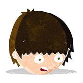 Cartoon stressed face — Vector de stock