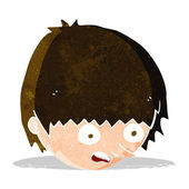 Cartoon stressed face — Vettoriale Stock