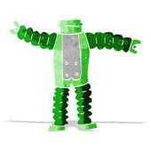 Kreskówka robota ciała (wymieszać i dopasować bajki lub dodaj własne zdjęcia) — Wektor stockowy