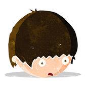 şok face karikatür — Stok Vektör