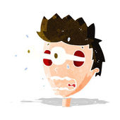 Cartoon surprised man with eyes popping out — Stock Vector