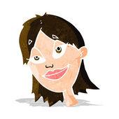 Donna felice dei cartoni animati — Vettoriale Stock