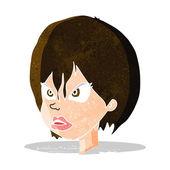 Karikatür rahatsız kadın — Stok Vektör