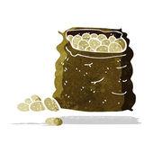 Cartoon sack of potatoes — Stock Vector