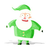 Cartoon shocked santa claus — Stock Vector