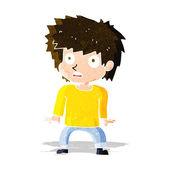 Cartoon frightened boy — Stock Vector