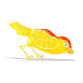 Fumetto giardino uccello — Vettoriale Stock