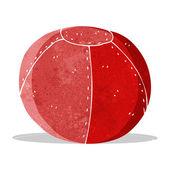 Cartoon old stitched football — Stockvektor