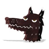 Cartoon wolf head — Stock Vector