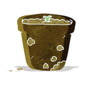Cartoon flower pot — Stock Vector